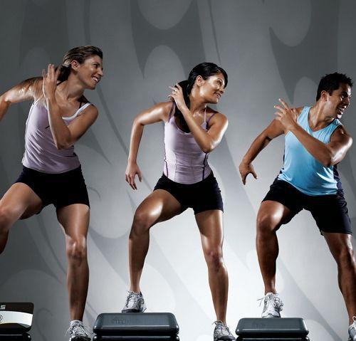 step aerobics basic steps