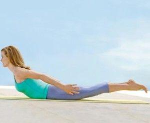 Упражнение пилатеса - прогиб спины