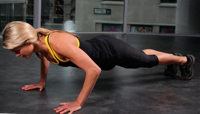 Отжимания тренируют верхнюю часть тела