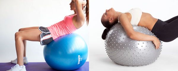 Гладкий и массажный фитбол