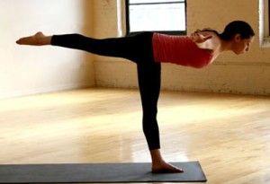 Упражнение на баланс - ласточка