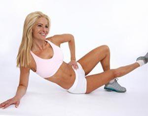 Упражнение - приведение бедра лежа на боку