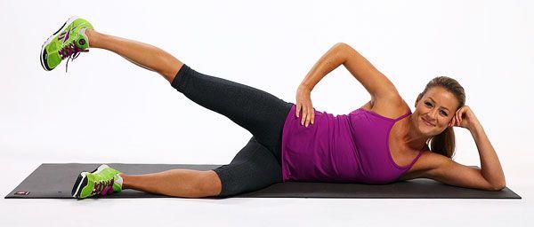 Упражнения для уменьшения бедер должны сочетаться с диетой