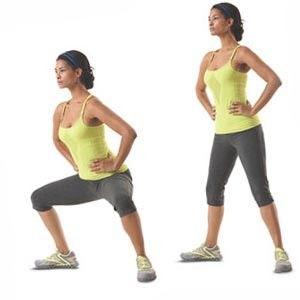 Плие тренирует ягодичные мышцы