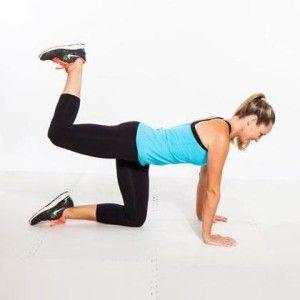 Упражнение для задней поверхности бедер и ягодиц