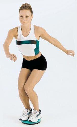 Диск здоровья позволяет делать упражнения на тренировку вестибулярного аппарата
