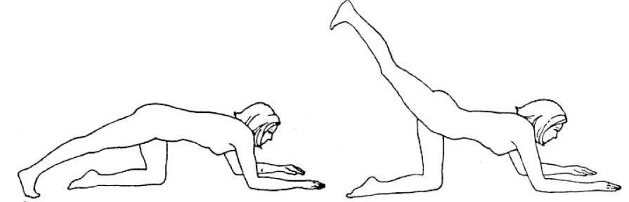 Отведение ноги назад
