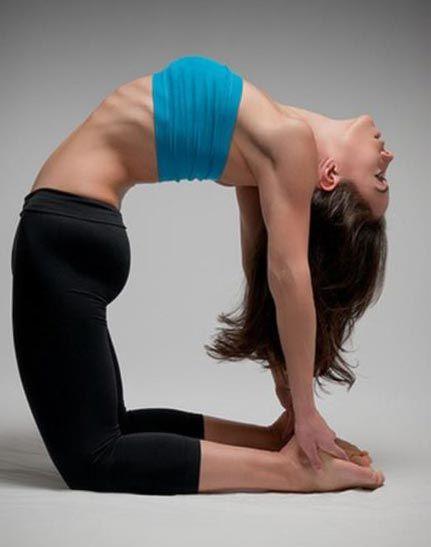 Йога упражнения - поза верблюда