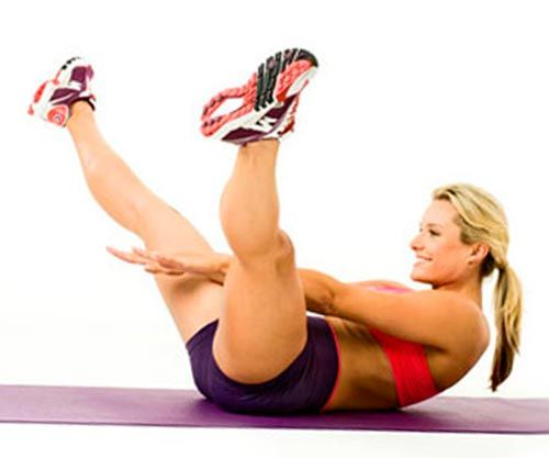 Упражнение для живота - усложненные скручивания