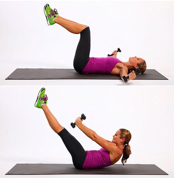 Упражнение для груди и пресса