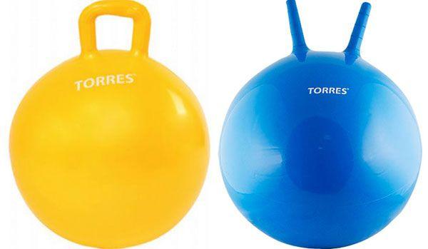 Гимнастические мячи с ручками