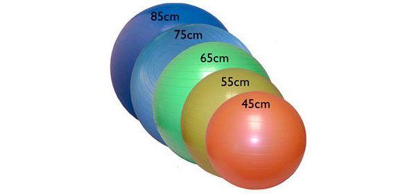 Размеры мячей