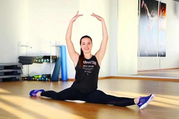 Яна Лебедева — тренер, инструктор, I разряд по спортивной гимнастике.